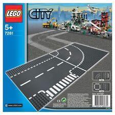 LEGO CITY 5-12 ANNI T-JUNCTION AND CURVED ROAD STRADA INCROCIO A T E CURVA 7281