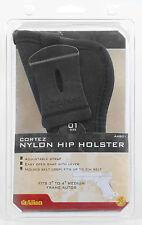 """Handgun Holster Glock Cortez Nylon Hip Holster 3"""" to 4"""" Semi Autos Allen Size 1"""