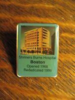 Shriners Burns Hospital Boston Massachusetts USA Vintage 1999 Building Lapel Pin