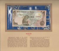 Most Treasured Banknotes Malta 1979 1 Pound Lira P-34b UNC Prefix A/16