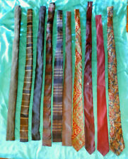 New listing Vintage Lot Of 10 Men'S Ties Square End, Wool, Rayon-Swing Rockabilly