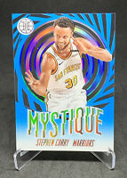 Stephen Curry 2019-20 Panini Illusions Mystique Sapphire Parallel #9 Warriors