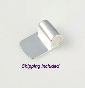 Bright Silver Glue On Tube Bails (Pkg of 5 or 10) - Ships from WI, USA (519-BS)