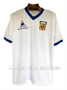 Maradona Argentina world cup 1982 - 1986 jersey maglia camiseta white (retro)