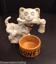 Yankee Candle Boney Bunch 2011 Boney Dog w/ Bone in Mouth  ~ NIB ~ SOLD OUT