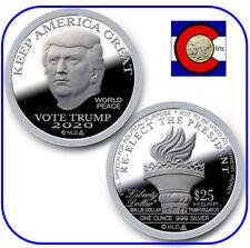 2020 Trump Proof-Like Silver Liberty Dollar - Keep America Great - in capsule