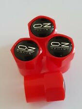 OZ RACING Plastic Wheel Valve Dust caps all models 7 colours all cars bikes RED