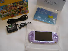 Sony PSP 3000 Lilac Purple Handheld Console Japan Hajimeyou Airu Mura MINT