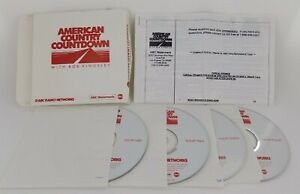 RARE American Country Countdown w/ Bob Kingsley Radio Shows from 1992 on 4 CDs!