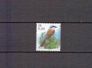 BELGIUM 2000 red backed shrike buzin bird MNH** 2885
