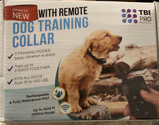 New listing Tbi Pro Dog Shock Training Collar with Remote 1600ft Range