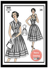 1950s Sun Dress and Jacket Vintage Sewing Pattern - Rockabilly
