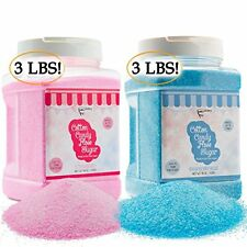 The Candery Candy Making Supplies Cotton Candy Floss Sugar (2-Pack) Raspberry