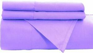 Persian Lavender Flat Sheet 1800 Collection Wrinkle Free Soft Solid Top Sheet