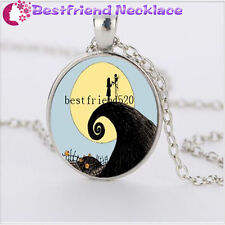 Nightmare Before Christmas jack&sally silver necklace for woman man gift#YKL6