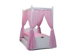 Himmelbett Cindy Kinderbett  90 x 200 cm rosa inkl. Gästebett und Vorhang NEU