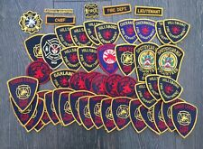 Large collection of US Fire Dept older type cheesecloth shoulder patches