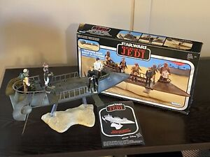 Star Wars Vintage Collection Jabba's Tatooine Skiff 100% Complete with Figures