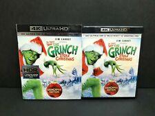 How The Grinch Stole Christmas (4K Uhd, Blu-ray, Digital) w/ Oop Slipcover Seuss
