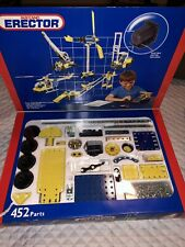 Meccano Erector 4 Electric Motor Metal Construction 452 Parts 51 Models Toys