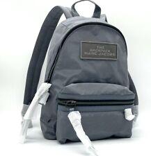 Marc Jacobs The Backpack Grey DTM Medium Biker Gray Nylon Mini Shoulder Tote