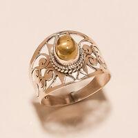 3.50 Gm Natural Citrine Ring Gemstone 925 Solid Sterling Silver Size 10 i-2021