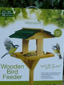 Bird Table/Wooden Bird Feeder 112cm =44'' =3 3/4ft (F) =Free Mainland UK Postage