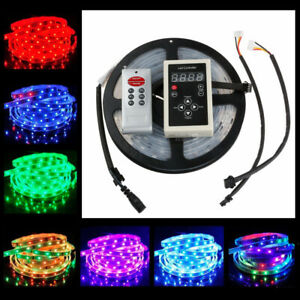 16FT 5050 RGB 6803 IC Waterproof 150 LED Strip Light Tape RF Controller Adapter
