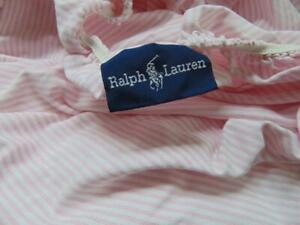 RALPH LAUREN 100 % Supima Cotton Fitted Full Double Sheet  Pink White Stripes