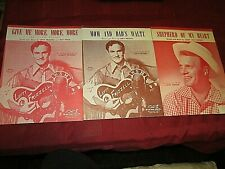 12 Original 1950's Country & Western Vocalists Sheet Musics Arnold Foley Rogers