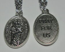 "Updated St Cecilia Cecily Holy Medal on 24"" Chain Church Music Poets & Musicians"