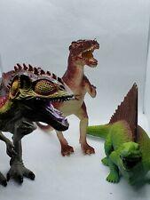 Lot of 3 Dinosaur figures Tyrannosaurus Rex, Giganotosaurus, Edaphosaurus