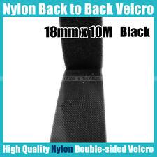 18mm x 10M (Black) Nylon BTB Strapping Tape Fastener Self Gripping Straps