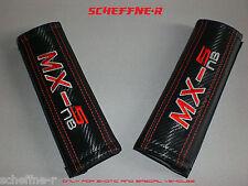 MAZDA MX-5 NA NB NC GURTPOLSTER SHOULDER PADS CARBON MX-5 SCHRIFTZUG