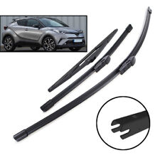 3PCS Windshield Wiper Blades Front Rear Set For Toyota C-HR CHR 2016-2020 17 18
