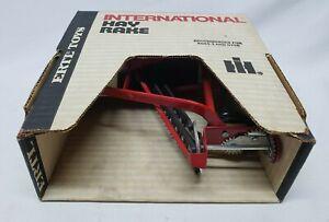 Vintage International Harvester Hay Rake By Ertl 1/16 Scale New In Box