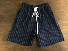 LUCKY BASTARDS STRIPED SHORTS MEN FITWEAR SPORTS MADE IN USA NAVY/WHITE STRIPED