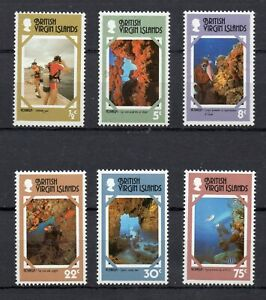 BRITISH VIRGIN ISLANDS STAMPS 1978 TOURISM SG 374/79 MINT NEVER HINGED