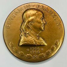 Benjamin Franklin  US Founding Father  Medal