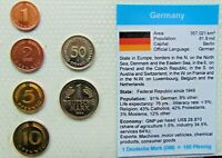 1990,s GERMANY, Set of 6 GEM UNCIRCULATED COINS in a see through Container.