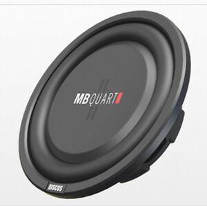 MB Quart DS1-204 400 Watt 8 Inch Shallow Slim DVC 4 Ohm Car Sub, Single Speaker