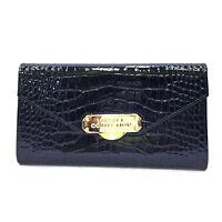 Versace Collection Portafoglio Grande Donna in Pelle Blu Rettangolare 0301