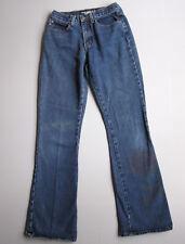 "Vintage 90s Flare Leg Jeans Denim Hippie 7 Blue 26"""