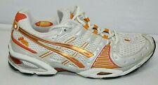 Asics Gel-Nimbus Womens Running Shoes TN685 White & Orange Size 8.5 Sneakers