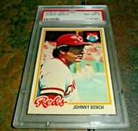 1978 O-Pee-Chee OPC  #50 Johnny Bench Cincinnati Reds NM MINT PSA 8