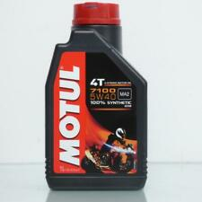 Canister 1L Oil Motul 7100 5W40 MA2 100% Synthesis for Engine 4 Time Motorbike