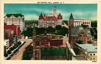 Vintage Postcard - Un-Posted Capital Hill Buildings Albany New York NY #4239