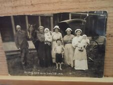 Lakeside Mi Mich Michigan, family photo,July 1, 1914, by Erie,  early postcard !