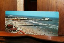Vintage Oversized Postcard Bathers Beach Atlantic City NJ Steel Pier Childs