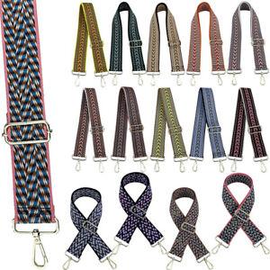 Adjustable Boho Guitar Style Shoulder Bag Strap Replacement Handbag Wallet Purse
